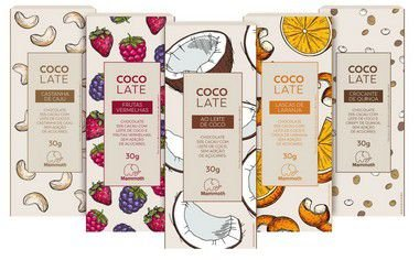 Kit Degustação CocoLate 55% cacau com 20 unidades (5 sabores)