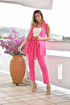 Colete Linho Pink