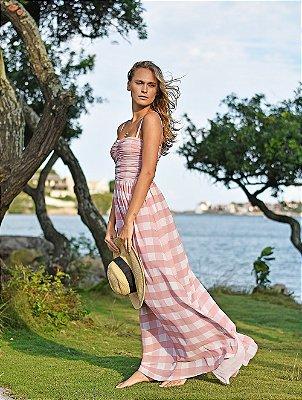 Vestido Rhavena Vichy Nude