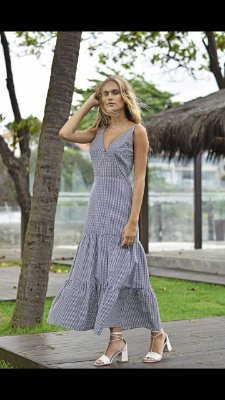 Vestido Vanessa Vichy Preto