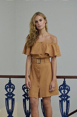 Vestido Croácia Caramelo