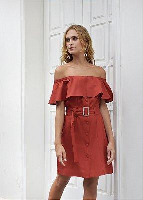 Vestido Croácia Telha