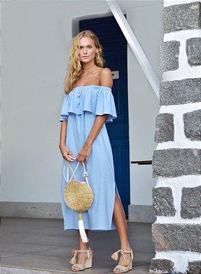 Vestido Havanna Azul Claro