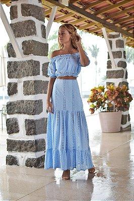 Saia Sicília Azul Claro