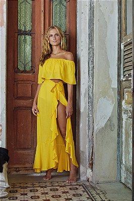 Saia Espelhos Amarelo
