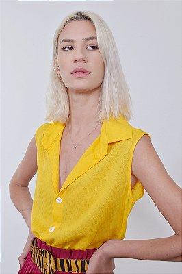 Camisa Espelhos Amarelo