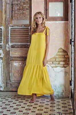 Vestido Espelhos Amarelo