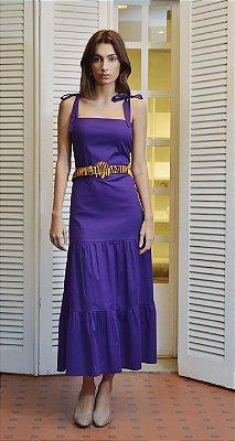 Vestido Algarve Púrpura sem Cinto