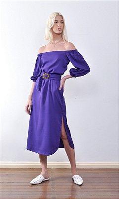 Vestido Midi Leblon Púrpura