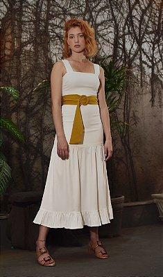 Vestido Valência Off White sem Cinto