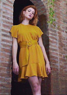 Vestido Gavia Açafrão sem Cinto