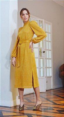 Vestido Chenille Açafrão