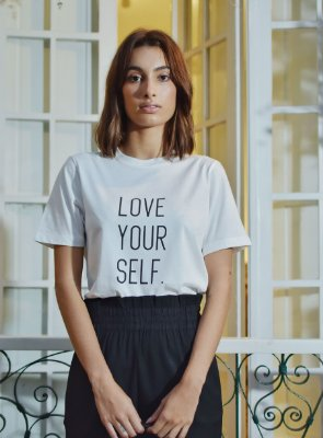T-Shirt Love Yourself Off White
