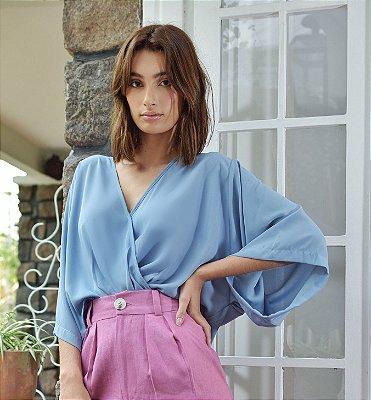 Blusa Sidney Azul Claro