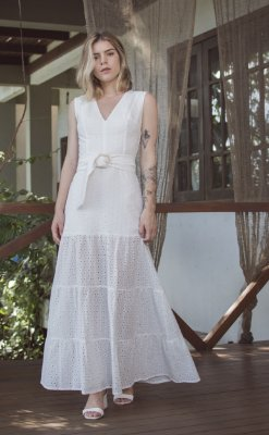 Vestido Sicília Off White