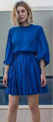 Vestido Gardênia Azul Royal