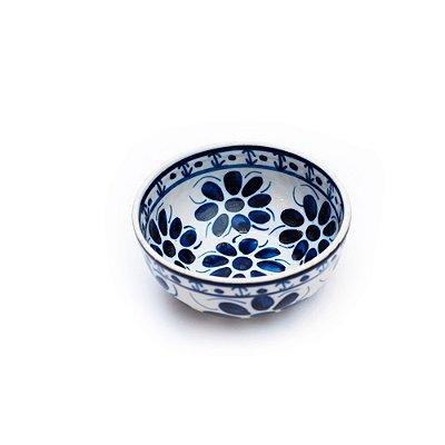 Tigela Pequena 16cm Colonial Azul e Branco