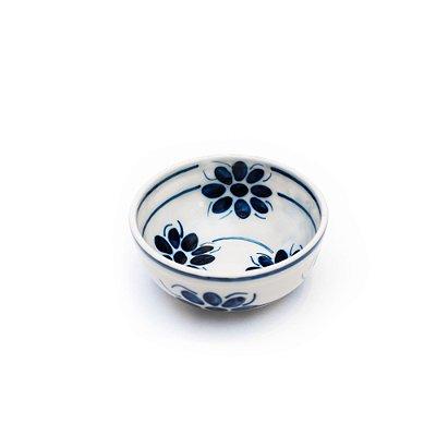 Tigela Floral Azul e Branca