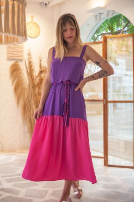 Vestido Lince Color Púrpura