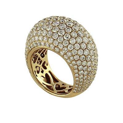 Anel em Ouro  c/ Diamantes   -  cod 01045891