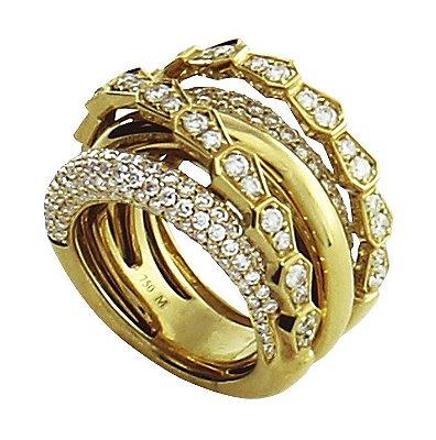 Anel em Ouro  c/ Diamantes   -  cod 09045041