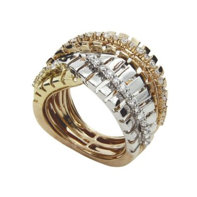 Anel em Ouro  c/ Diamantes   -  cod 01014158