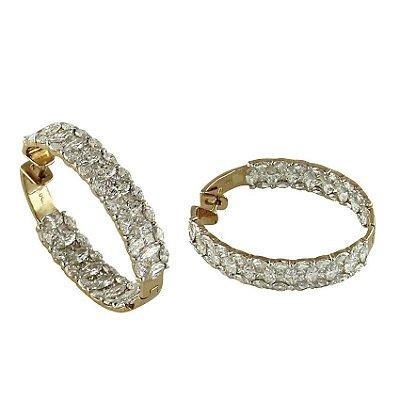Brinco em Ouro  c/ Diamantes  -  cod 02014219