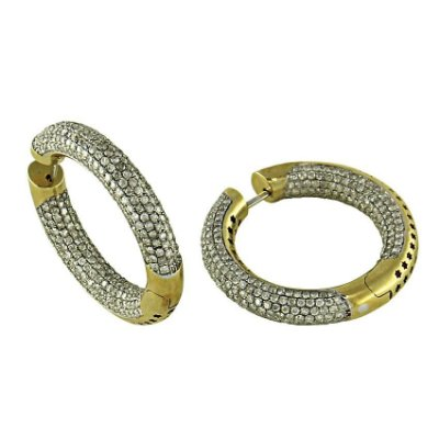 Brinco em Ouro  c/ Diamantes  -  cod 02005122