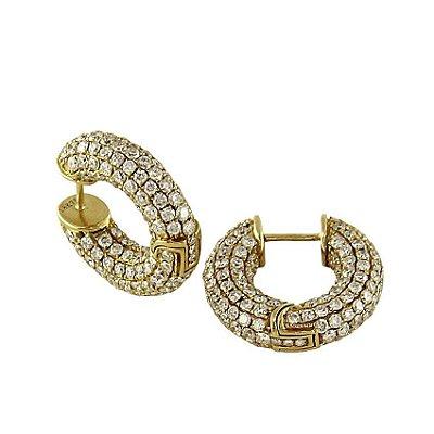Brinco em Ouro  c/ Diamantes  -  cod 02045630