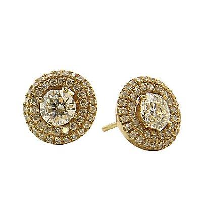 Brinco em Ouro  c/ Diamantes  -  cod 02005198