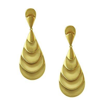 Brinco em Ouro Fosco  -  cod 02176013