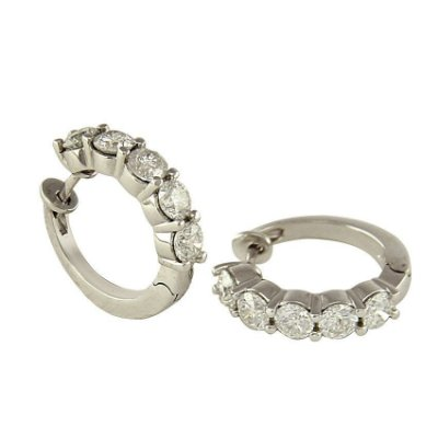 Brinco em Ouro  c/ Diamantes  -  cod 02193015