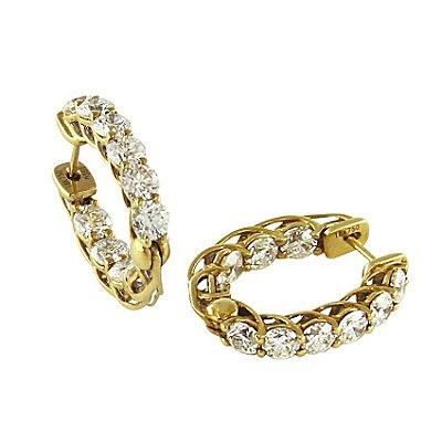 Brinco em Ouro c/ Diamantes  -  cod 02045349