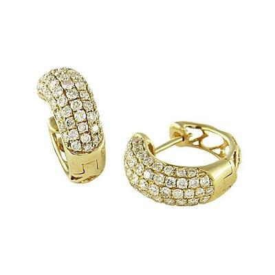 Brinco em Ouro  c/ Diamantes  -  cod 07045036