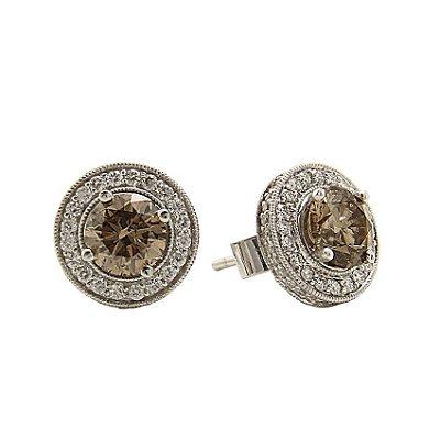 Brinco em Ouro c/ Diamantes  (1.00ct por pedra Brown)  -  cod 02005165