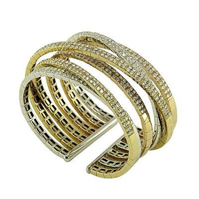Bracelete de Ouro c/ Diamantes   - cod 05045229