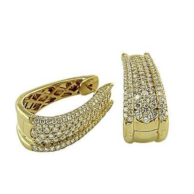 Brinco em Ouro  c/ Diamantes  -  cod 02014221