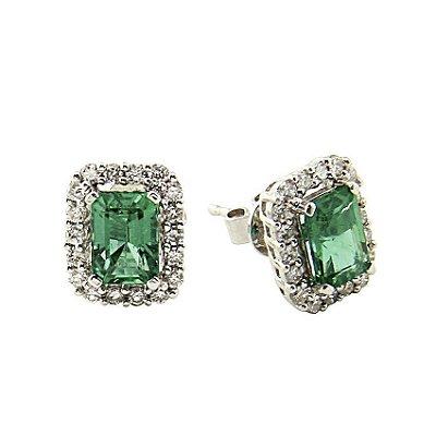 Brinco Esmeralda  c/ Diamantes  -  cod 07045264