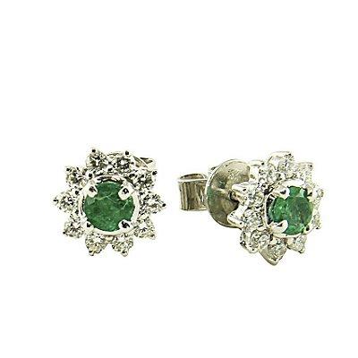 Brinco Esmeralda c/ Diamantes  -  cod 07045320