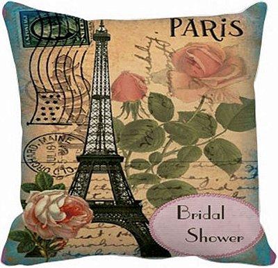 Capa de Almofada Vintage Rosas-Paris 017