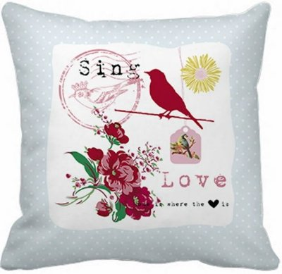 Almofada Vintage Home Sing Love