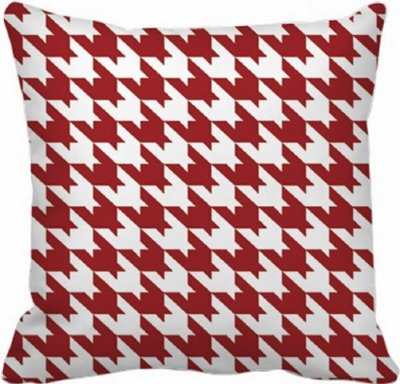 Almofada Vermelha - 40x40 -  Xadrez