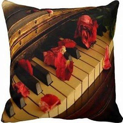 Almofada Música Vintage Piano