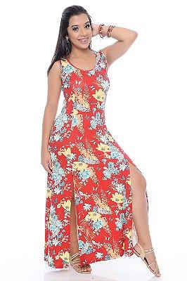 Vestido B'Bonnie Longo com Fendas Luma  REF 6716
