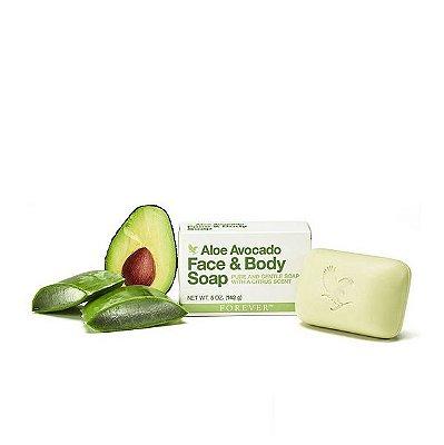 Aloe Avocado Face & Body Soap (sabonete de manteiga de abacate em barra)