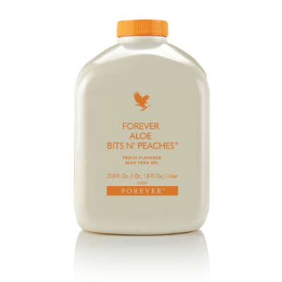 Forever Bits n Peaches, 91% de Aloe Vera mais o Pêssego, 1 litro