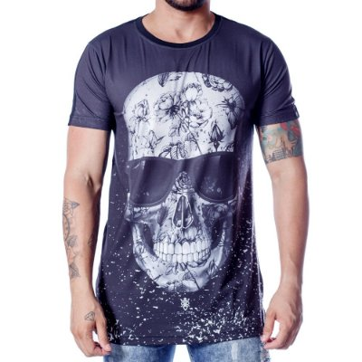 LONGLINE SUBLIMADA SKULL SHELLS - RIVIERA CLOTHING