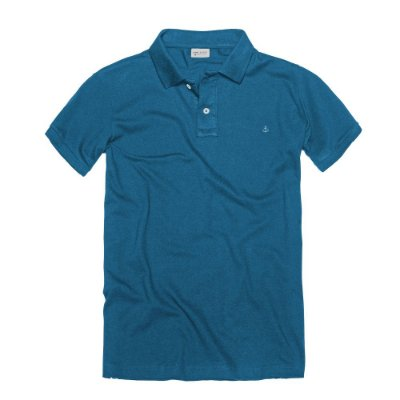 CAMISETA KING & JOE POLO LISA AZUL ROYAL
