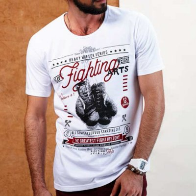 CAMISETA ELEVEN SILK FIGHT BRANCA