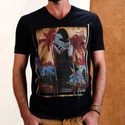 CAMISETA ELEVEN SILK TRADITION PRETA